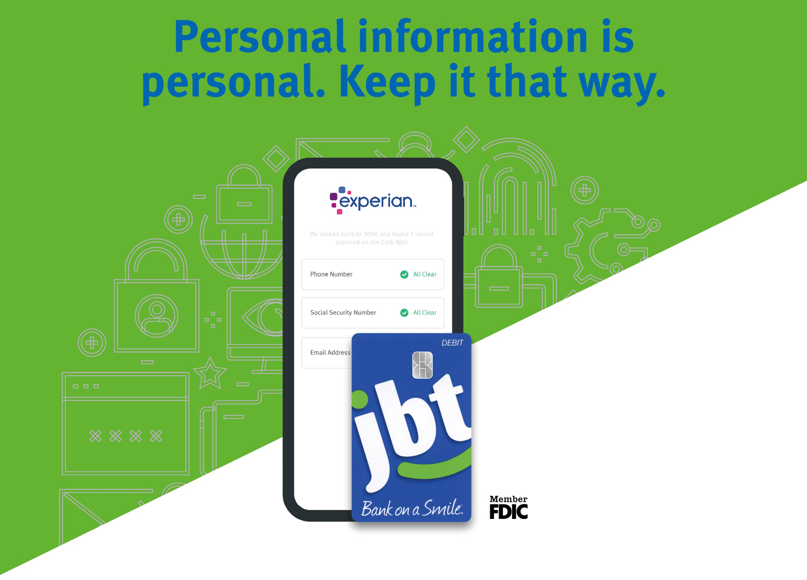 Personal information is personal. Keep it that way.